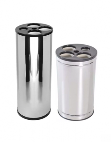 Dispensadores de copos descartaveis em aço Inox c/ tampa plástica