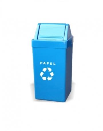 Cesto de Lixo com Tampa Basculante em Fiberglass