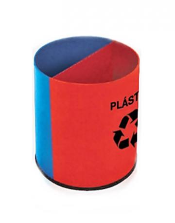 Lixeira Plástica Redonda com Divisões Fixas