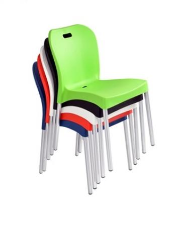 Cadeira Colorida com Pés em Alumínio