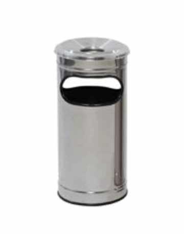 Cinzeiro Lixeira em Aço Inox