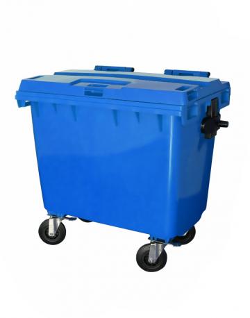 Lixeira Contêiner Plástico 660L com Pedal e Rodas