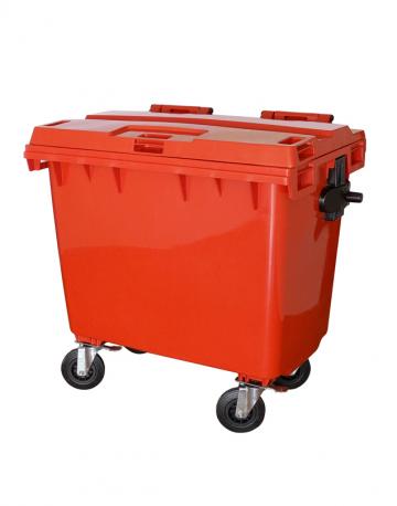 Lixeira Contêiner Plástico 660L  com Rodas