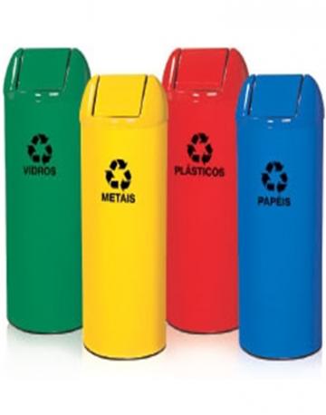 Cestos de Lixo Tubinho em fiberglass 55 litros