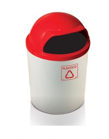 Coletor de Lixo em Fiberglass com Abertura Frontal
