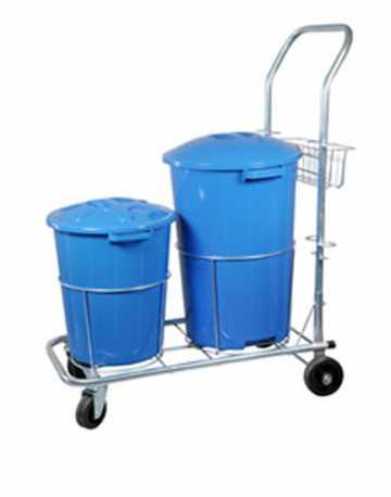 Carrinho Funcional para Limpeza com 2 baldes