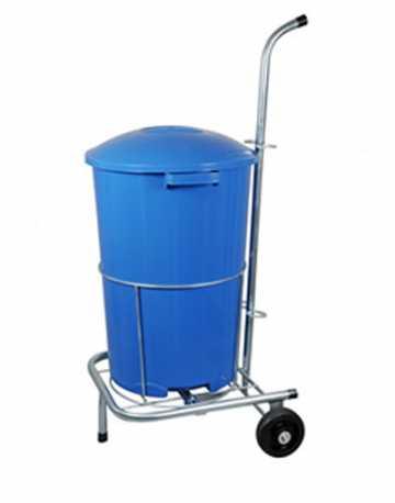 Carrinho Funcional para Limpeza com 1 balde 60 litros