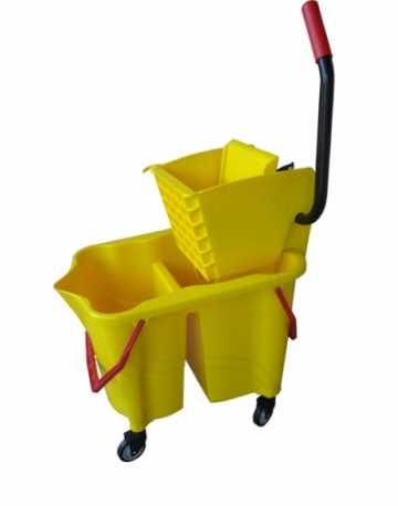 Carrinho Funcional para Limpeza com balde e espremedor