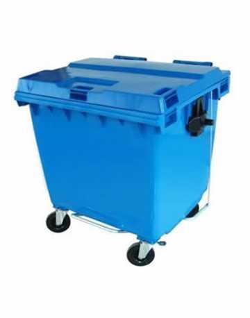 Lixeira Container Plástico com Pedal e Rodas 1000 litros