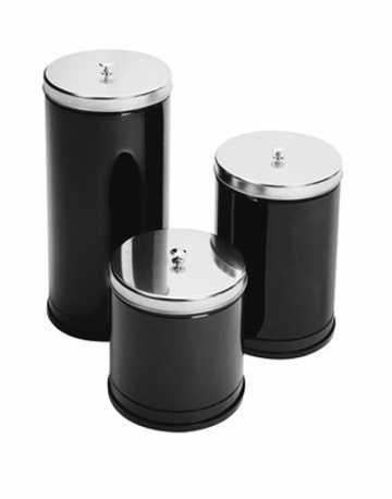 Lixeira Aço Pintado com Tampa e Puxador 10 litros