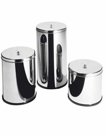 Lixeira Aço Inox com Tampa e Puxador 10 litros