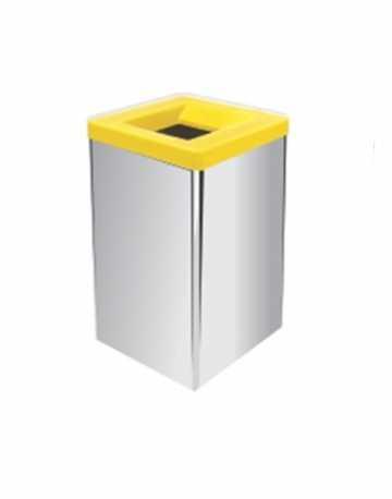 Lixeira em Aço Inox com tampa vazada 100 litros