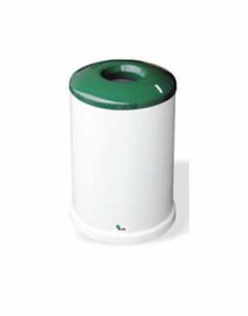 Cesto de lixo cilíndrico com tampa vazada 80 litros