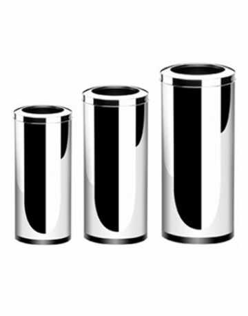 Lixeiras Aço Inox com Aro 50 litros