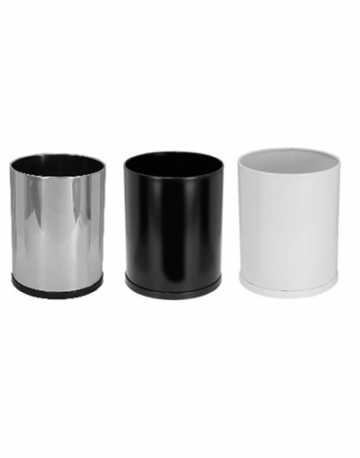 Lixeira Aço Inox ou Preto Esmaltado 50 litros