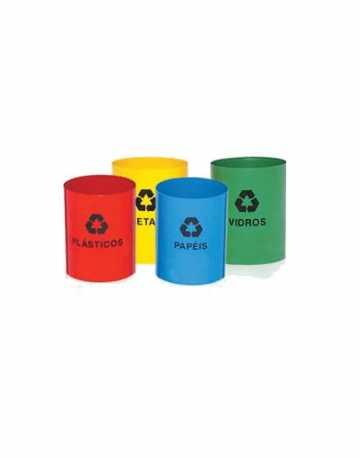 Lixeiras plásticas sem tampas para reciclagem 50 litros