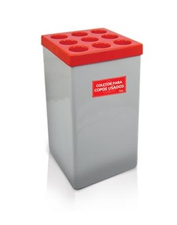 Dispensador de Copos Quadrado em Fiberglass para Água