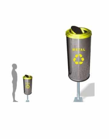 Lixeira de Aço Inox com Suporte 32 litros