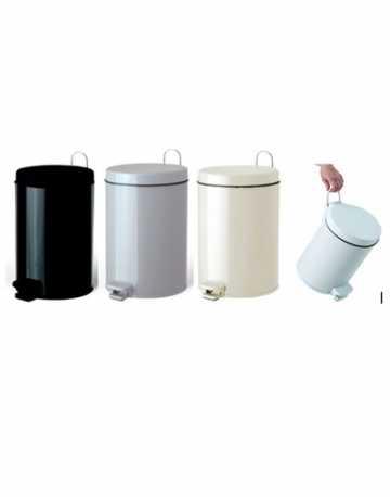 Lixeira Aço Pintado com Pedal e Balde Interno 6 litros