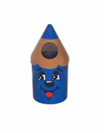 Lixeira Infantil Formato Lapizinho colorido 30 litros