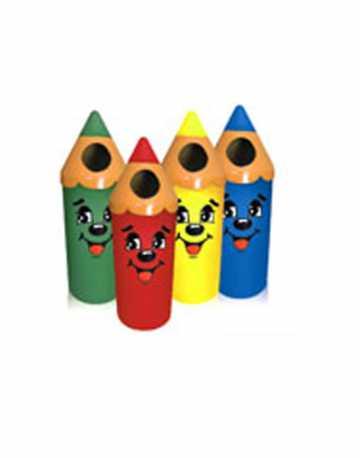 Lixeira Decorativa Infantil Formato Lápis 55 litros