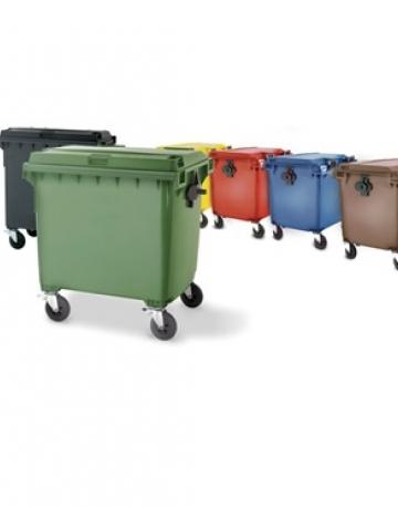 Lixeira Container Plástico com Rodas 660 litros