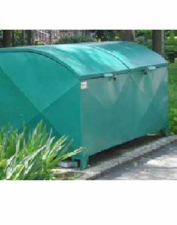 Container Bau em Aço com Pintura Galvanizada C/ 2 Tampas 1600 Litros Abaudado