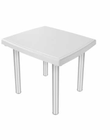 Mesa quadrada 4 lugares com pés em alumínio