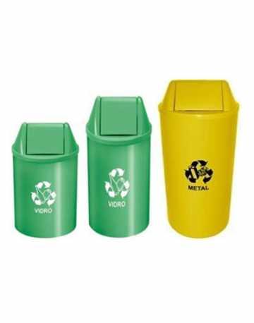 Cesto de Lixo Redondo com Tampa Vai Vem