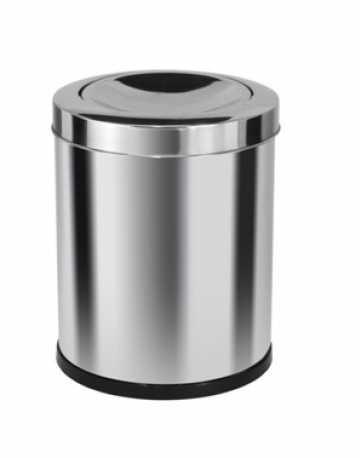 Cestinho em aço inox com tampa basculante 13 litros