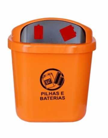 Cesto de 40L para descarte de pilhas e Baterias