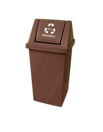 Cestos de Lixo Plástico com Tampa Vai Vem