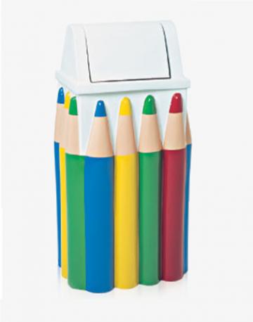 Lixeira Infantil Lápis Retangular