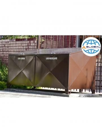 Container Bau em Aço com Pintura Galvaniza C/2 Tampas 1.240 Litros